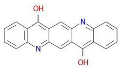 เม็ดสีม่วง-19 โมเลกุลโครงสร้าง